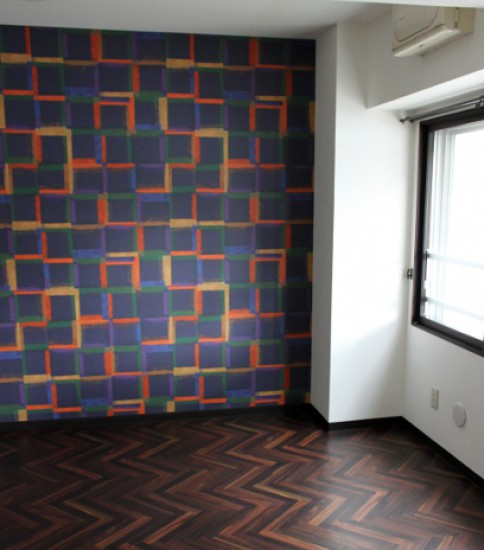 グラフィカルな壁の子供部屋