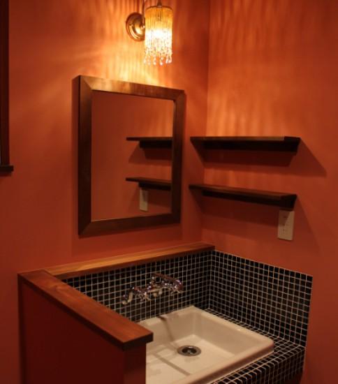 モロッコ風の洗面室
