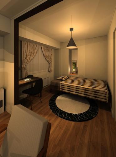 クラークノルドイメージパース1 寝室