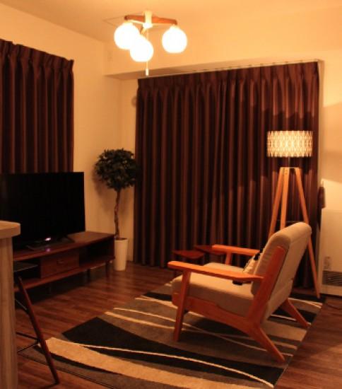 北欧風ホテルライクな部屋